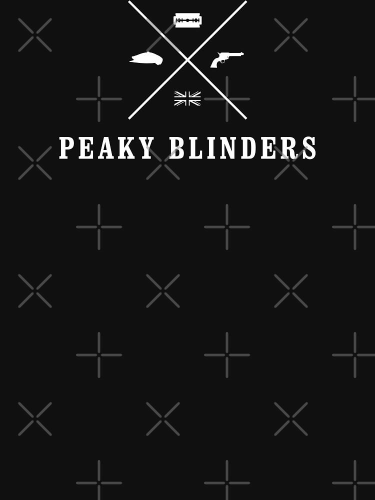 TShirtGifter presents: Peaky Blinders - Cross Logo - White Clean | Unisex T-Shirt