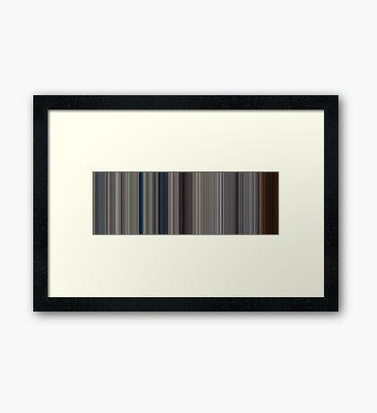 Moviebarcode: Full Metal Jacket (1987) [Simplified Colors] Framed Print