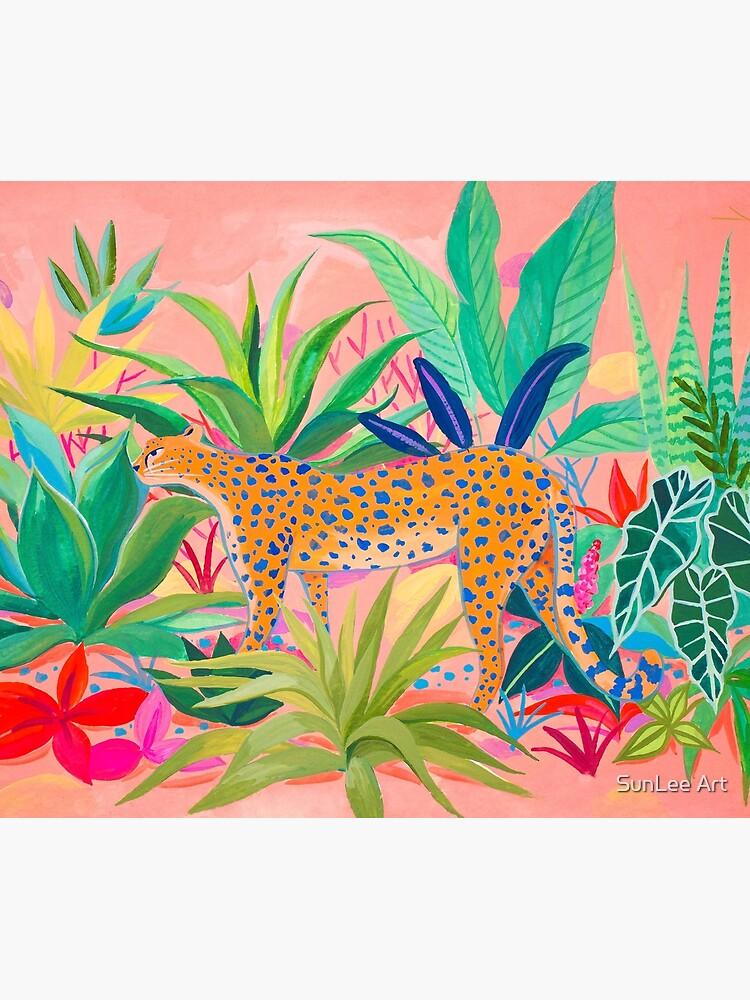 Leopard in Succulent Garden by sunleeart