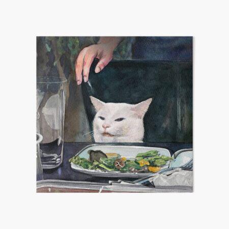 Woman Yelling at Cat Meme-2 Art Board Print