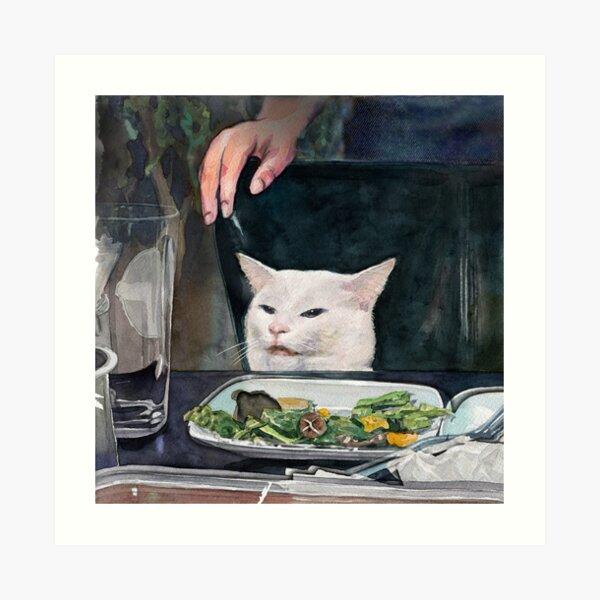 Woman Yelling at Cat Meme-2 Art Print