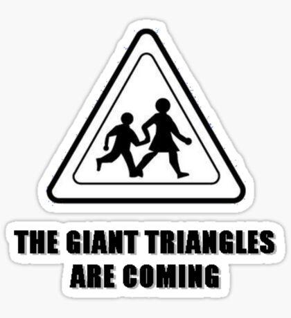 Giant Triangles Sticker