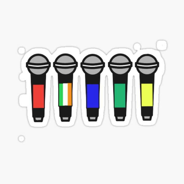 one direction microphones Sticker