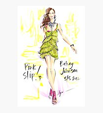 Pink Slip! Photographic Print