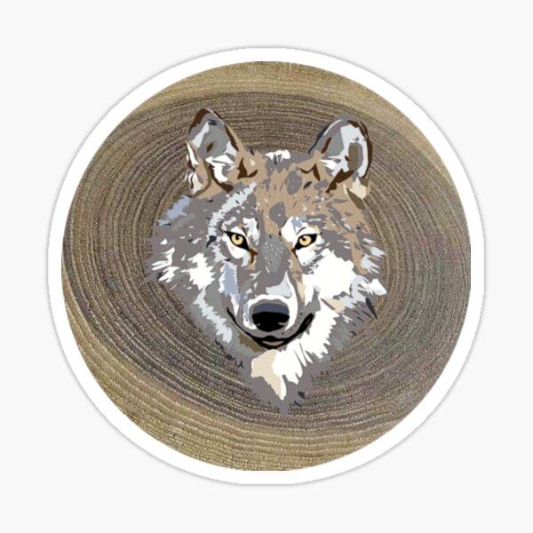 Wolf Wilderness Wood Artisan Sticker