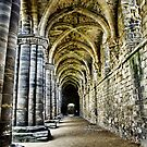 At the side of the Nave  - Kirkstall Abbey by Trevor Kersley