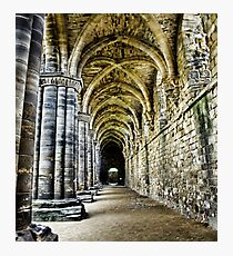 At the side of the Nave  - Kirkstall Abbey Photographic Print
