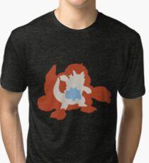 PKMN Silhouette - Rhyhorn Family Tri-blend T-Shirt