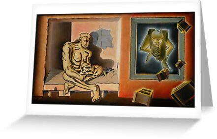 "Surreal Portents of Genius - oil on canvas - 45"" x 26"" by Dave Martsolf"