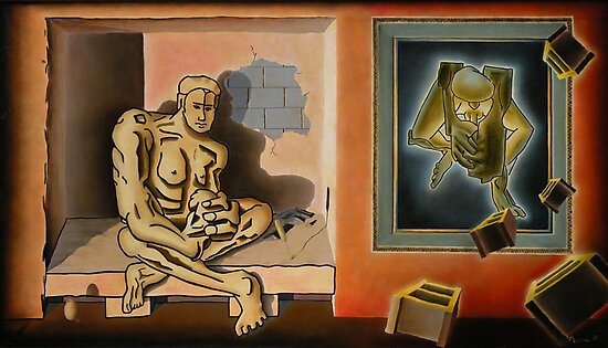 """Surreal Portents of Genius - oil on canvas - 45"""" x 26"""" by Dave Martsolf"""