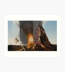 """Surreal Cathedral - oil on canvas - 50"""" x 31"""" Art Print"""