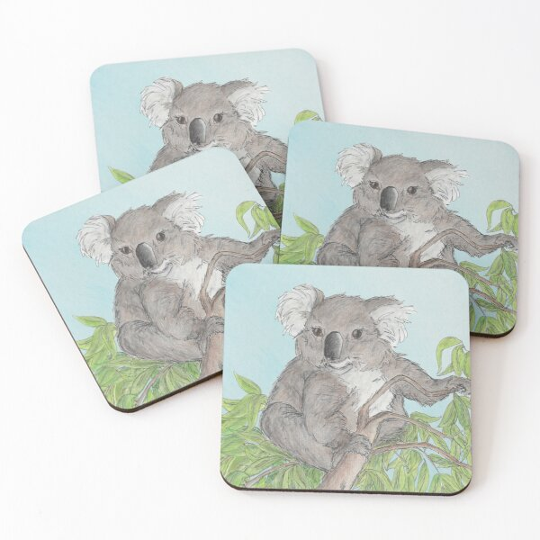 Home among the gumtrees Coasters (Set of 4)