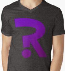 ?R - Riddler Logo Mens V-Neck T-Shirt