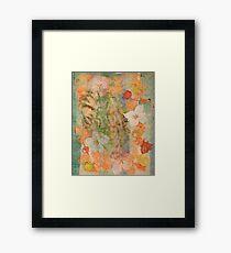 Tiki Flower Framed Print