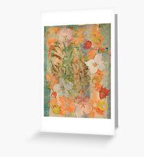Tiki Flower Greeting Card