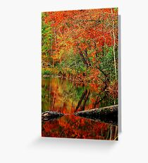 A Reflection Of Fall Greeting Card