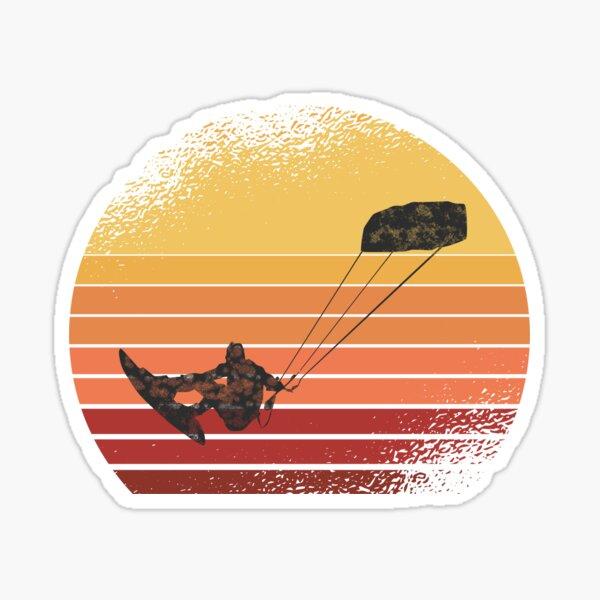 Cool retro vintage kitesurfer outfit Sticker