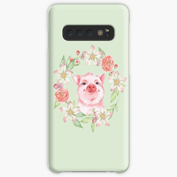 Pig and flowers Samsung Galaxy Snap Case