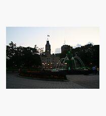 Québec Legislative Assembly Fountain Photographic Print