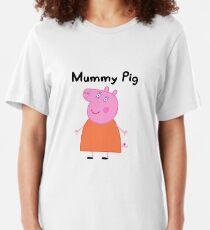 Best Seller - Mummy Peppaa Pig Merchandise Slim Fit T-Shirt