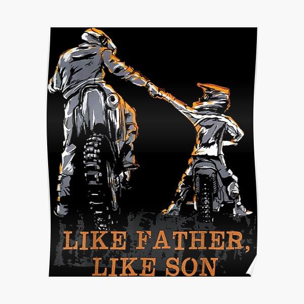 Cadeau de motocross Dirt Bike - cadeau comme père comme fils pour papa et fils Poster