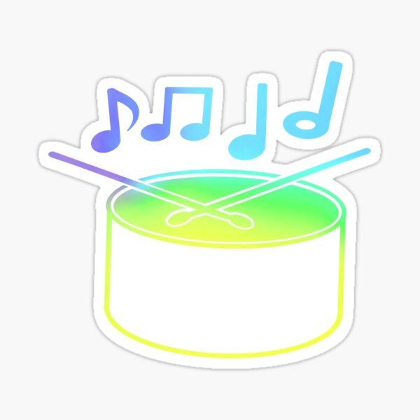 Colorful drum Glossy Sticker