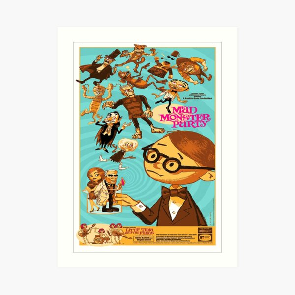 Mad Monster Party (1967) 3 Art Print