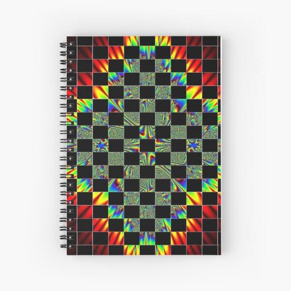 #Design, #pattern, #abstract, #art, illustration, shape, decoration, mosaic, square, futuristic, tile, modern Spiral Notebook