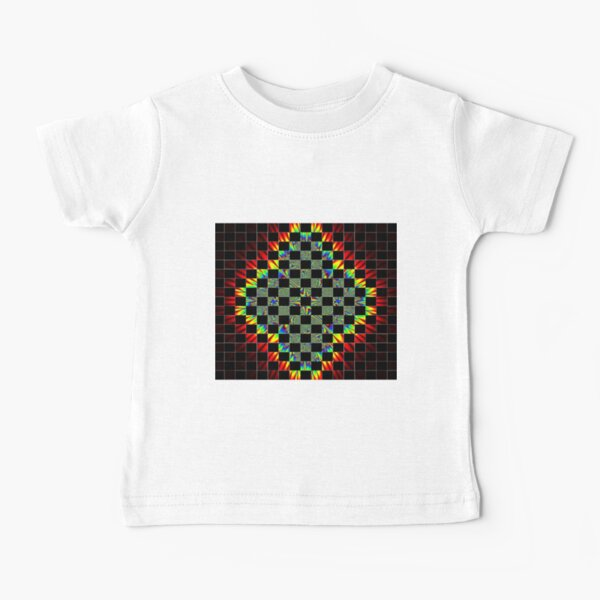 #Design, #pattern, #abstract, #art, illustration, shape, decoration, mosaic, square, futuristic, tile, modern Baby T-Shirt