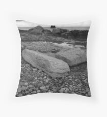 Penmon lighthouse Throw Pillow