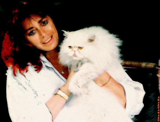 GUENDA AND HER WHITE CAT... by anaisanais