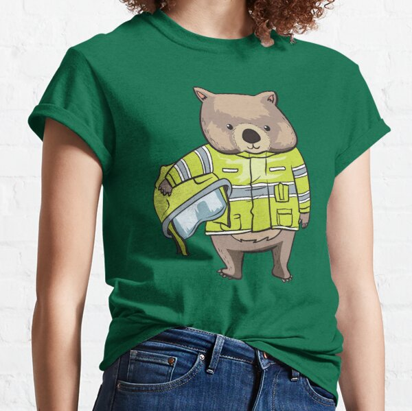 Wombat Wombats Firefighter Australia Hero Gift Classic T-Shirt