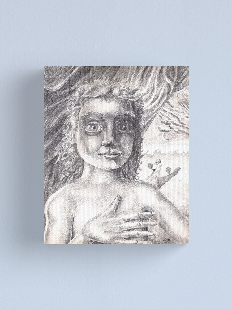 Alternate view of Pandora (the drawing) Canvas Print