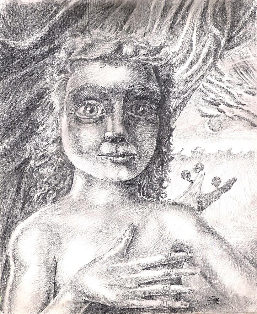 Pandora (the drawing) by Davol White