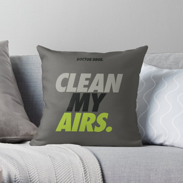 Clean My Airs OG 95 Throw Pillow