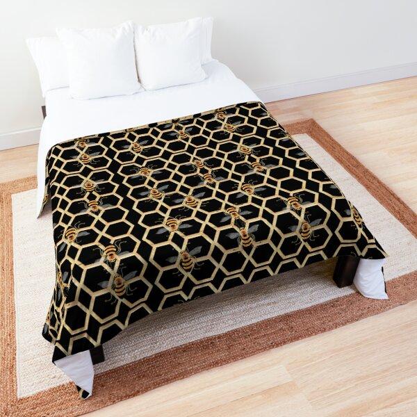 BEE 141 ON BLACK. Comforter