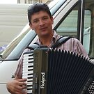 The Accordion Player by Fara