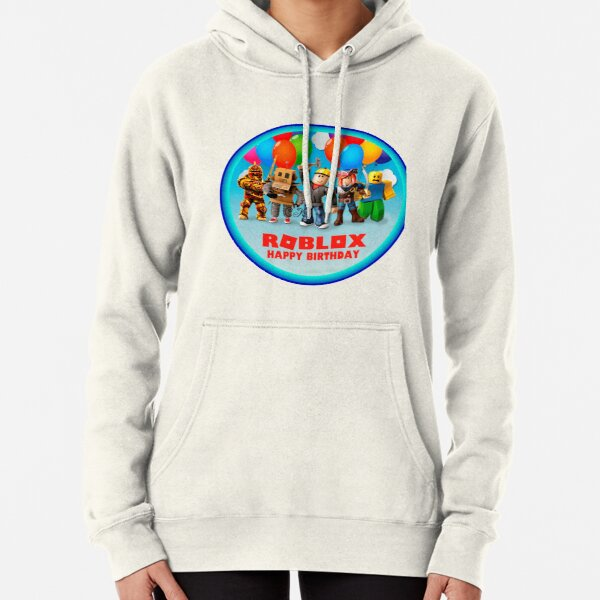 Roblox and family in a round area Pullover Hoodie