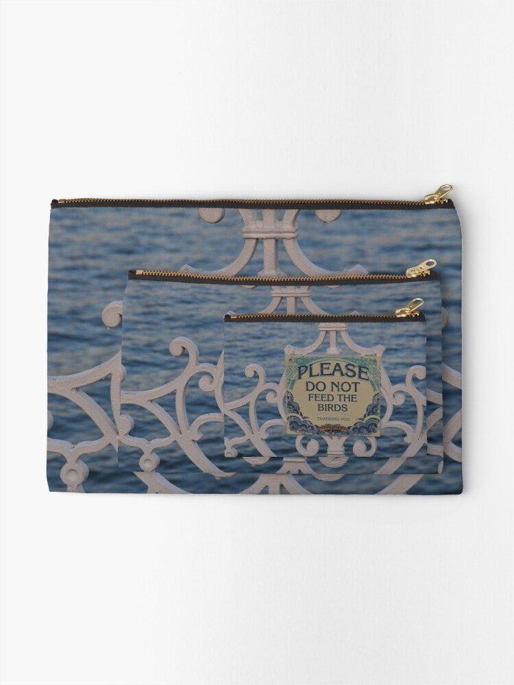 Alternate view of Please don't feed the birds Zipper Pouch