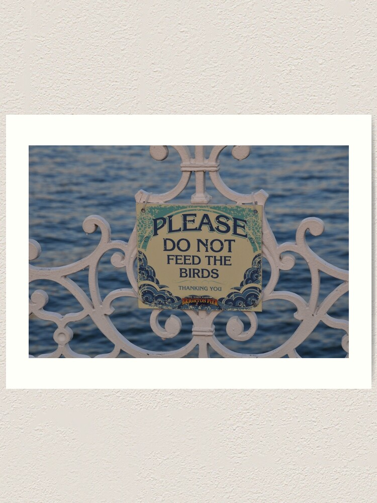 Alternate view of Please don't feed the birds Art Print