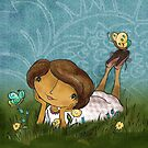 Joan in the Grass by Rencha