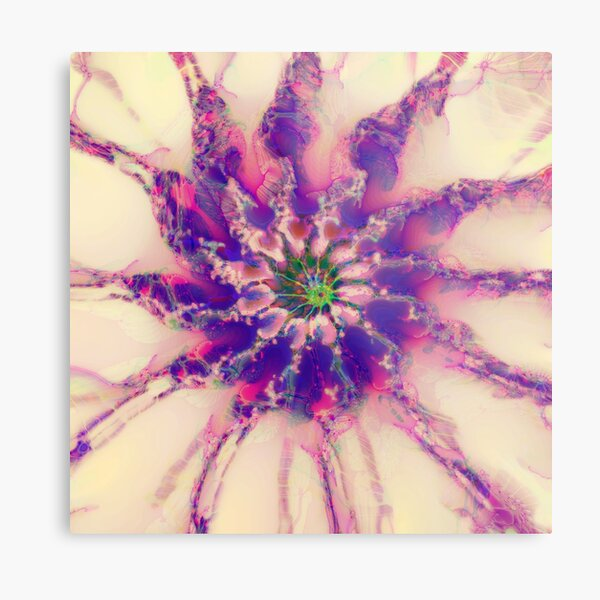 Fractalize abstraction Metal Print