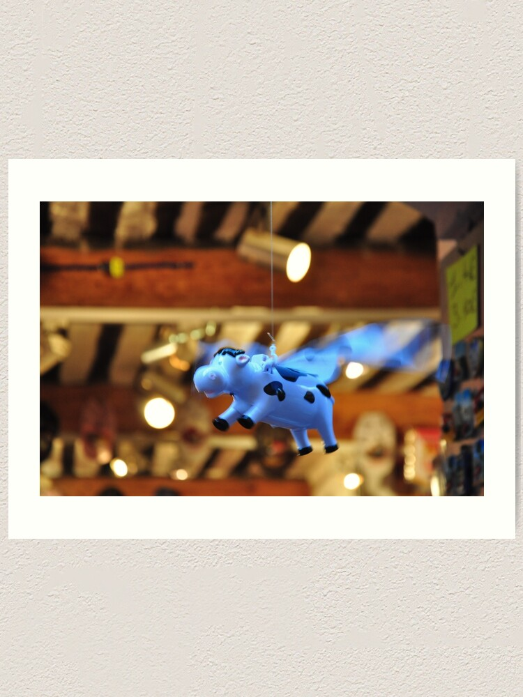 Alternate view of When the cows will fly Art Print