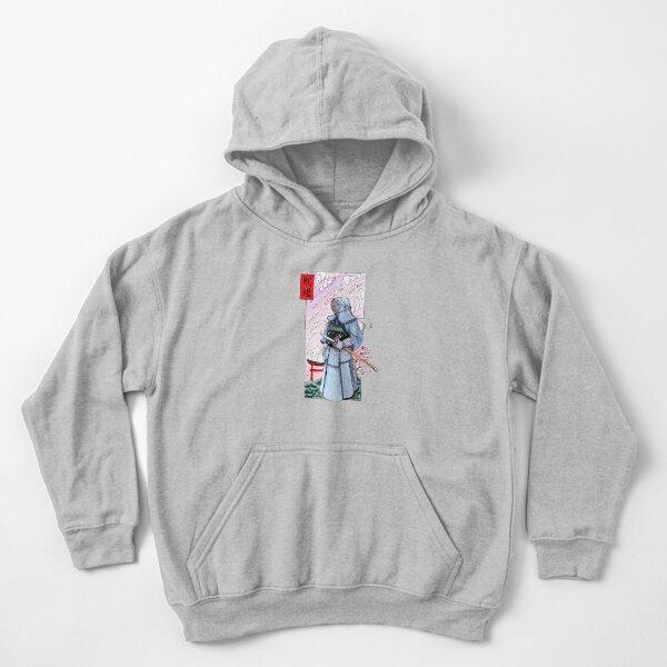 Kendoka watercolor in Japan Kids Pullover Hoodie