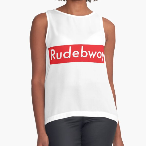 Rudebwoy box red Sleeveless Top