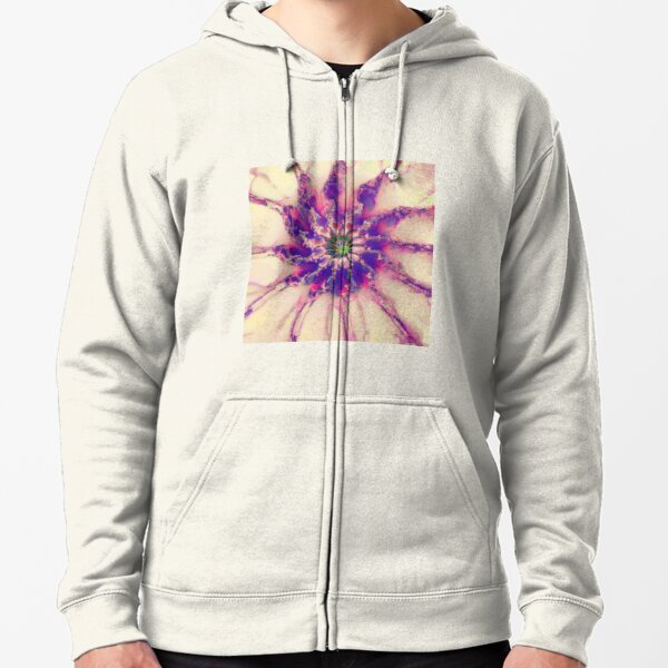 Fractalize abstraction Zipped Hoodie