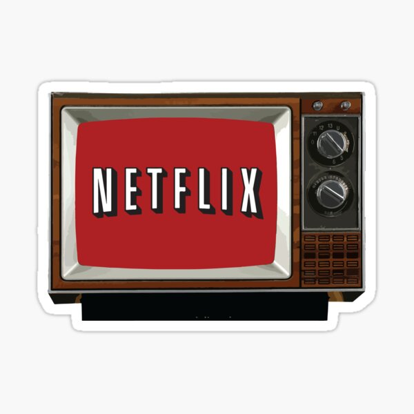 Retro Netflix Sticker