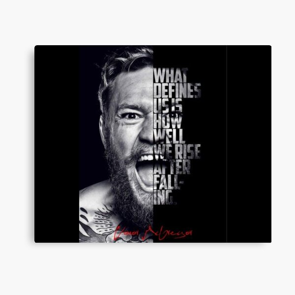Conor McGregor Quote Canvas Print
