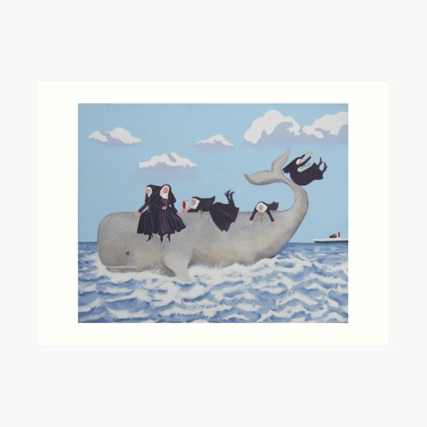 Having a Whale of a  Time Art Print
