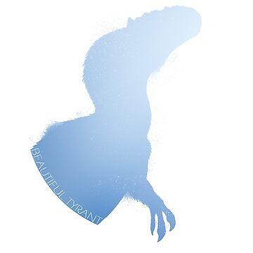 Blue Cold Yutyrannus Silhouette by FredWierum